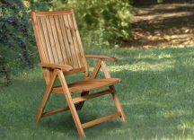 Akácia 5-pozíciós keményfa kerti szék SOLARIS