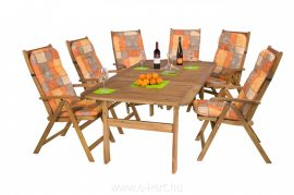 Kerti bútor akácia Relax 6-személyes