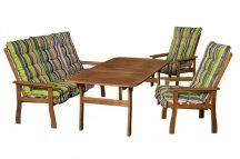 Keményfa kerti bútor pados Relax szett