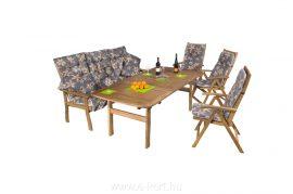 Kerti bútor összeállítás paddal 3+3