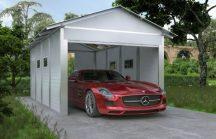 Szigetelt zárt garázs