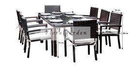 Rattan kerti bútor 8 személyes Ombroso